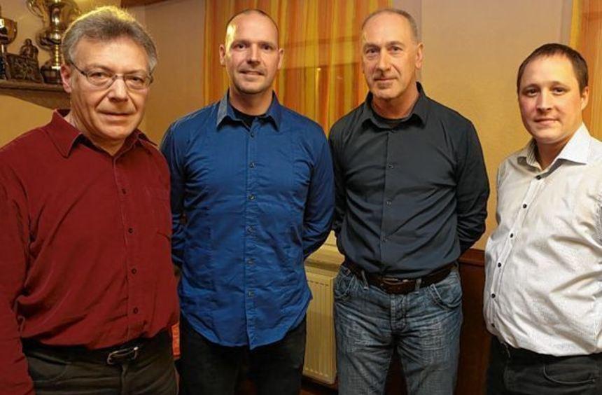 Zum Vorwärts-Vorstand gehören (v.l.): Horst Winter, Marc Merl, Andreas Teigesser und Christian ...