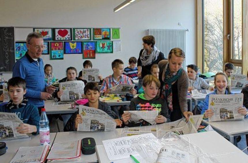 Die Zeitung steht derzeit auf dem Stundenplan der achten und sechsten Klasse in der Comenius ...