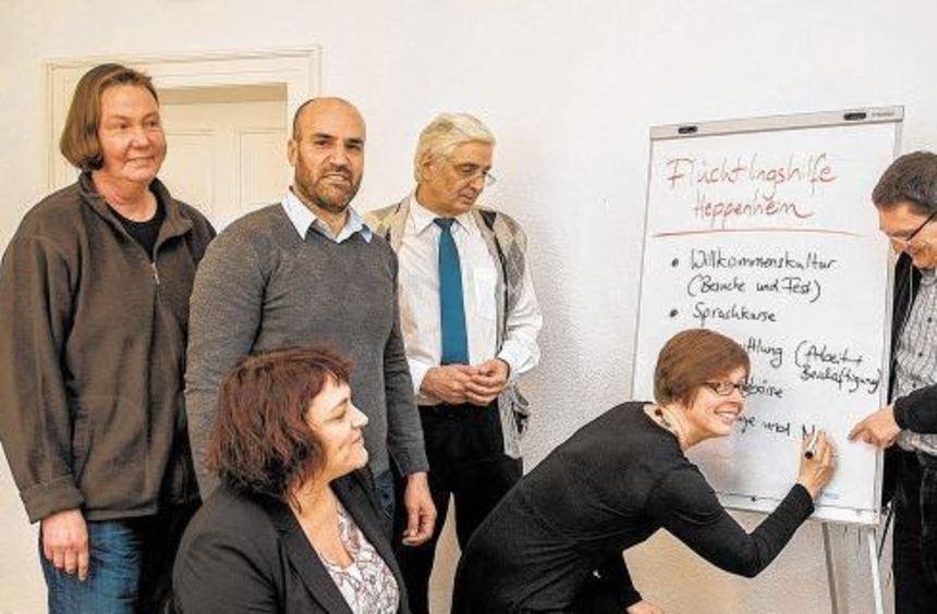 Der Koordinierungskreis der Flüchtlingshilfe Heppenheim bereitet sich auf die Ankunft der ...