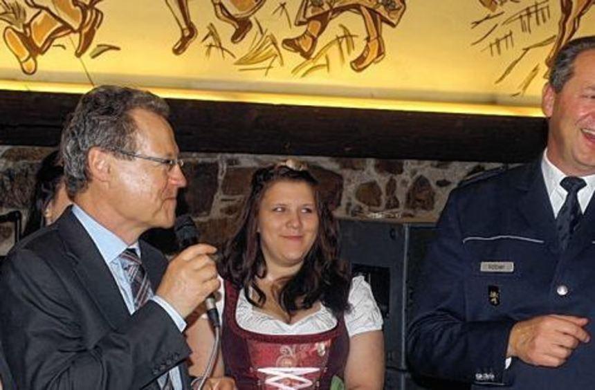 Der neue Polizeipräsident Thomas Köber fühlt sich im Zehntkeller wohl.
