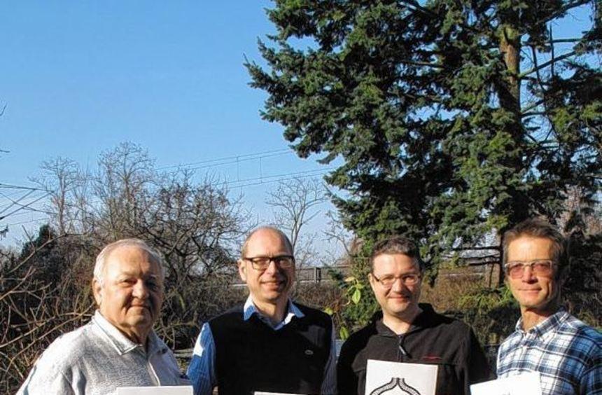 """Initiative gegen Bahnlärm und für einen Güterzug-""""Bypass"""": Norbert Jäger, Martin Steinbrenner, Dr. ..."""