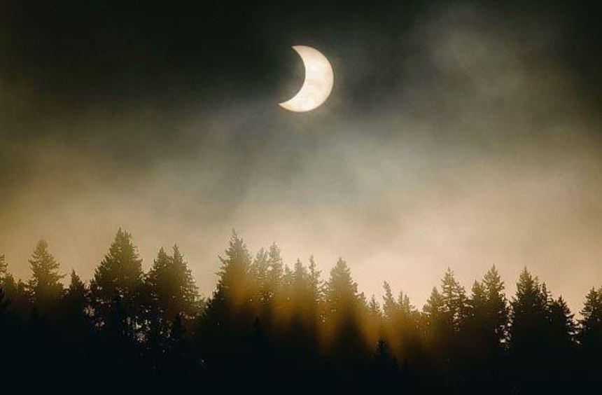 Ähnlich wie auf diesem Bild wird am 20. März der Mond gegen Mittag etwa 80 Prozent der Sonne ...