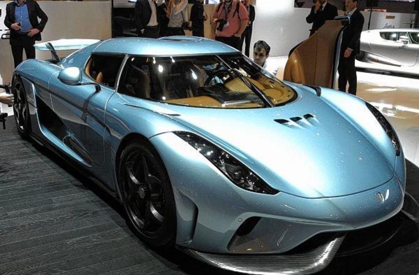 Neuer Rekord für Serienautos: Der nur 1,11 Meter hohe Koenigsegg Regera mobilisiert mit seinem ...