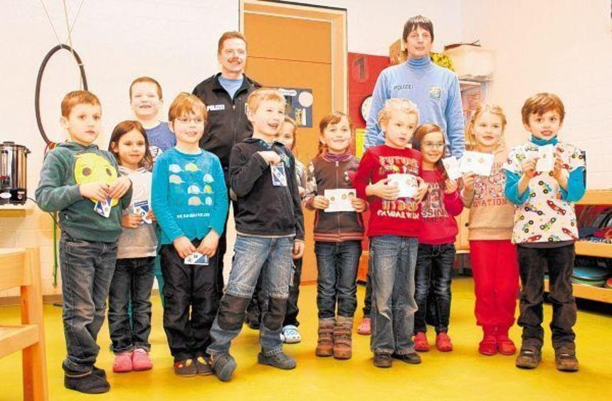 Vorschulkinder aus Kirschhausen und Wald-Erlenbach haben ihr Können im Straßenverkehr gezeigt und ...