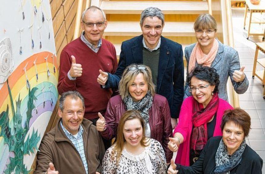 Arno Neidig, Stephan Harbarth, Gisela Schultze (hintere Reihe), Andreas Wolf, Barbara Oelschläger, ...