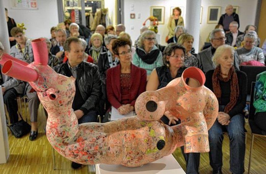 Die Skulpturen der Berliner Künstlerin Marina Schreiner sind wahre Hingucker. Davon konnten sich ...