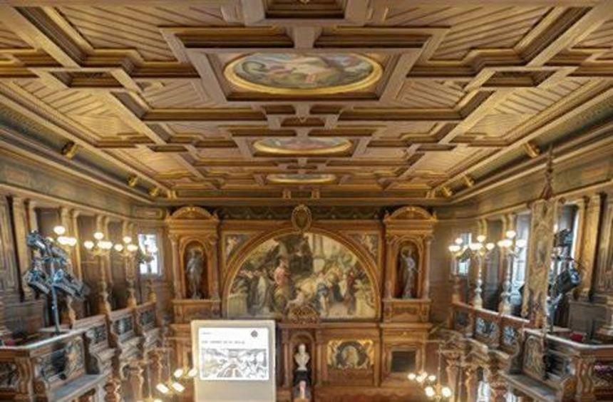 Die 300 Jahre alte Aula wurde im Jahr 1886 komplett neu gestaltet.