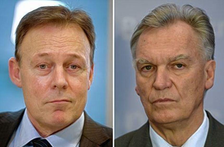 Thomas Oppermann (li.) und der frühere BKA-Chef Jörg Ziercke.