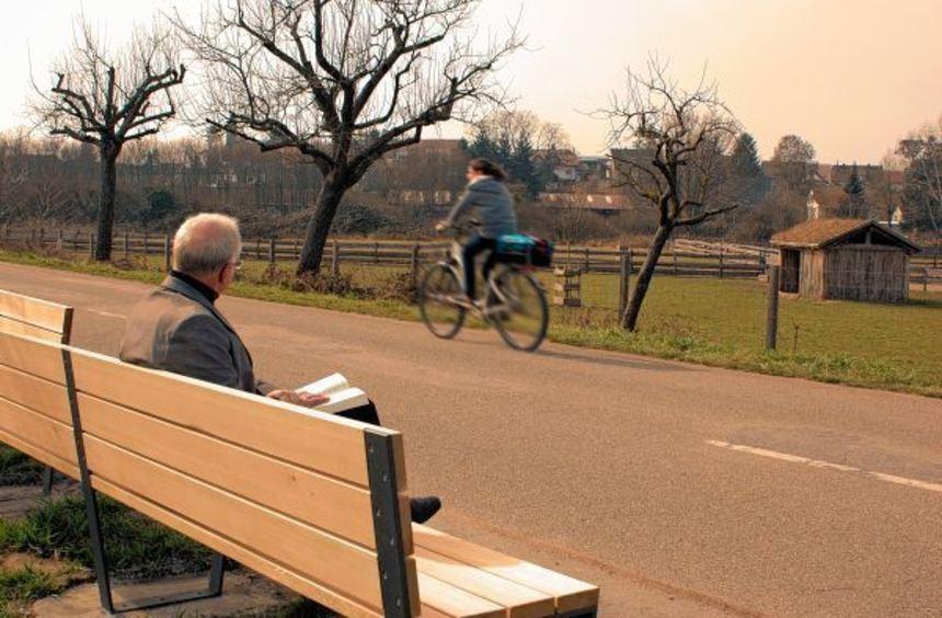 Auf dem Areal der Lorscher Welterbestätte wurden zwei neue Sitzbänke aufgestellt.