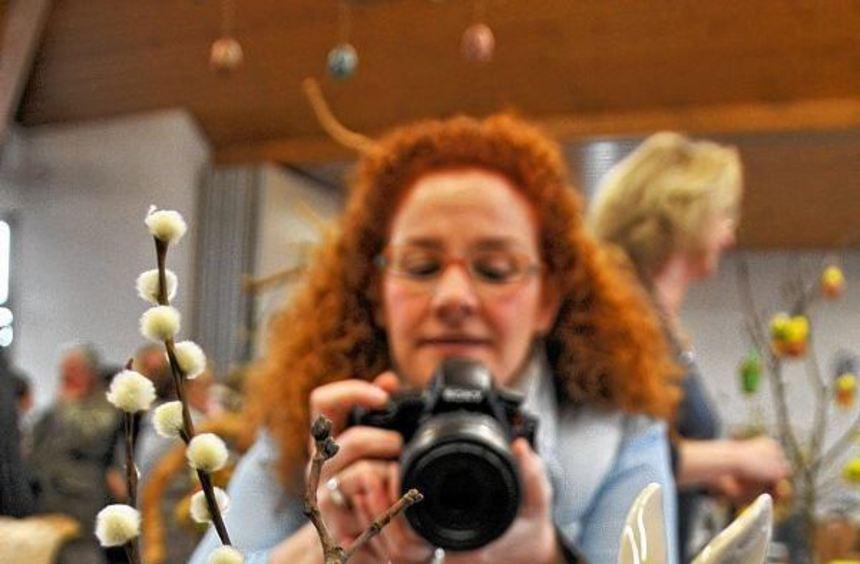Dekoration für das bevorstehende Osterfest durfte beim Frühlingsmarkt im Dorfgemeinschaftshaus ...