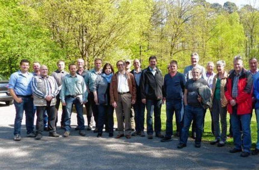 Die Gemeinde Hardheim führte am Freitag eine Waldbegehung durch mit dem neuen Leiter des ...