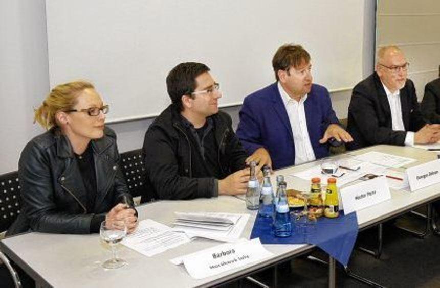 Die Hauptverantwortlichen Horakova Joly, Hector Parra, Georges Delnon, Gerold Hug, Dr. Marlene ...