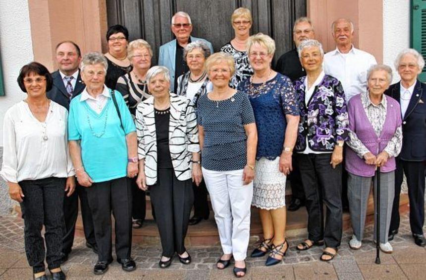 Dank für ihre Treue: Diese Mitglieder wurden für ihre jahrzehntelange Treue zum Verein geehrt.