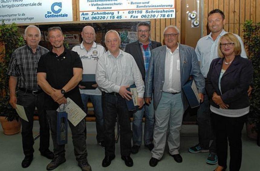 Bei der Jahreshauptversammlung ehrte der KSV Schriesheim auch einige langjährige Mitglieder.