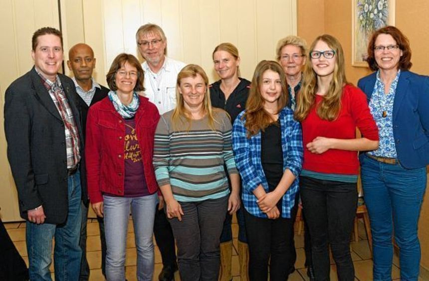 Der neue Vorstand des Kinder- und Jugendchors (v.l.): Thomas Schröder, Melaku Bekele, Katja Knoch, ...
