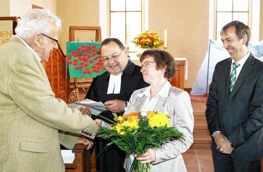 Der stellvertretende Vorsitzende des Kirchengemeinderates der Evangelischen Kirchengemeinde ...