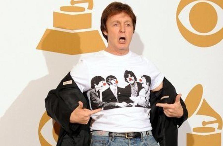 Ex-Beatle Paul McCartney beim Grammy-Award.
