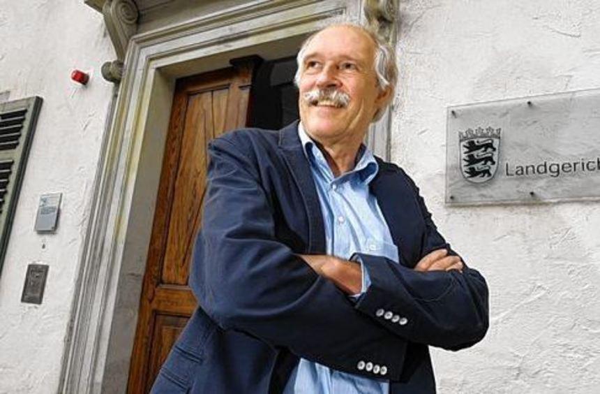 Gottfried Härle, Geschäftsführer der Brauerei Clemens Härle, vor dem Landgericht in Ravensburg. Das ...