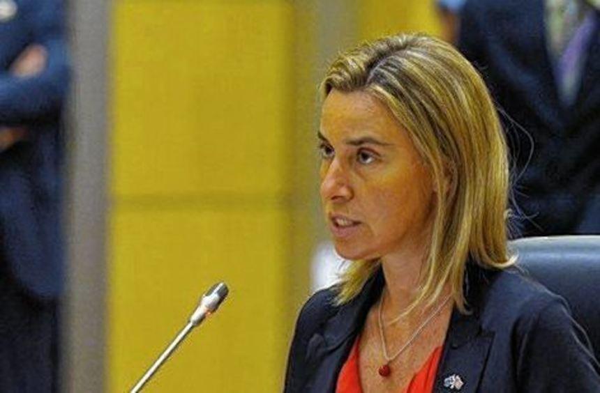 Hochzufrieden: die EU-Außenbeauftragte Federica Mogherini.