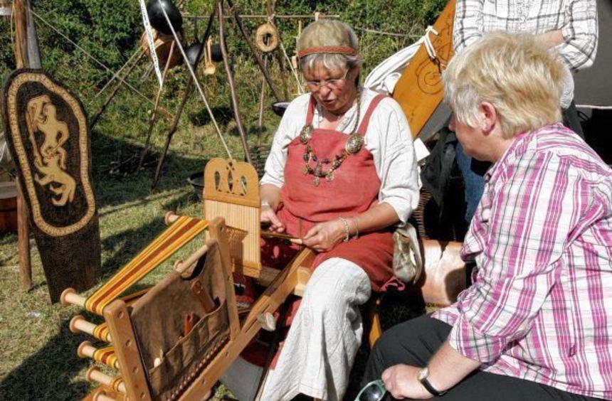 Die Geschichte des frühen Mittelalters wird im Histotainment Park Adventon in Osterburken am 19. ...