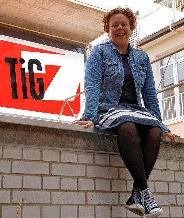 Christine Bossert vor dem TiG7. (Foto: Sandra König)