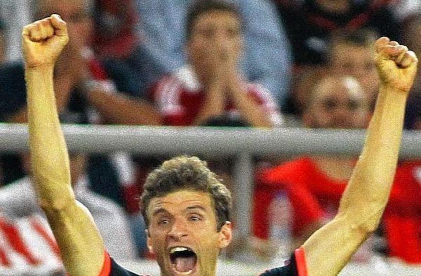 Flanke Thomas Müller - und Tor. Staunend habe er dem Ball hinterhergeschaut, gab der Bayern-Star ...