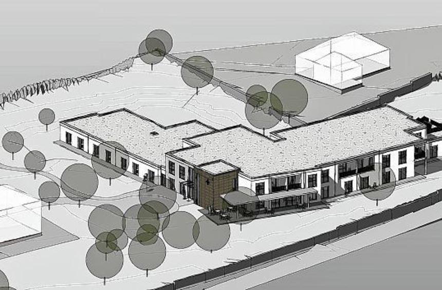 So soll das neue Seniorenzentrum in Distelhausen einmal aussehen.