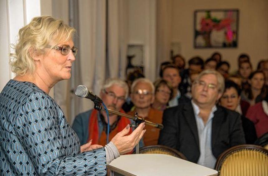 Bundestagsabgeordnete Christine Lambrecht referierte auf Einladung der Flüchtlingshilfe Lorsch über ...