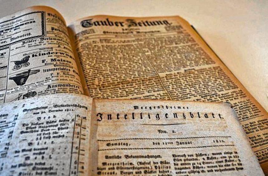 Historische Ausgaben: Das komplette Archiv der Tauber-Zeitung hat die Stadt übernommen.