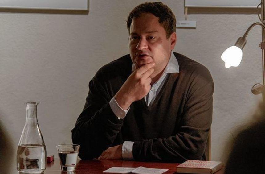 Thomas Melle bei seiner Lesung in Heppenheim.