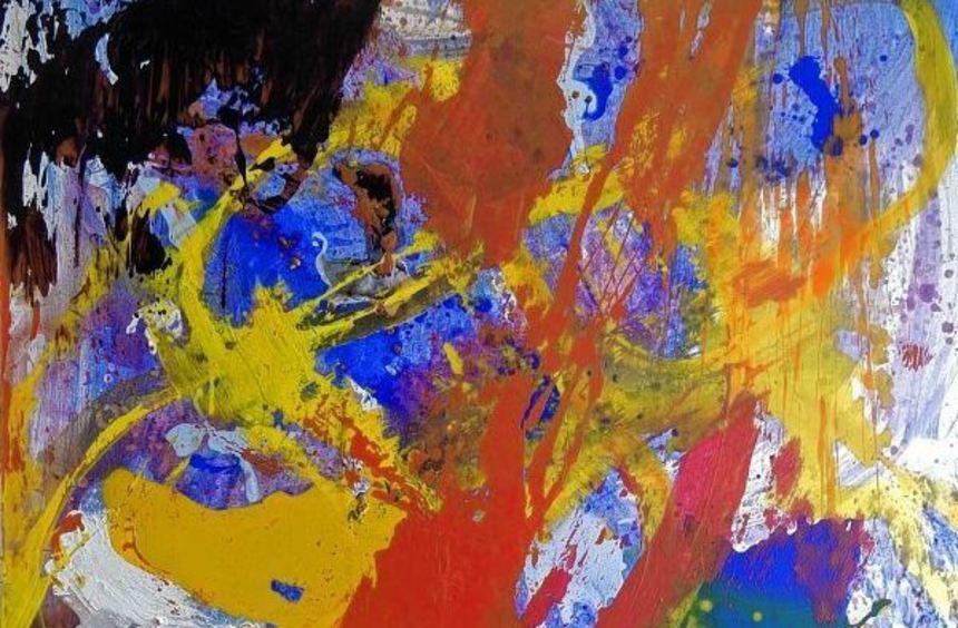 Acryl-Arbeiten sind ein Schwerpunkt der Ausstellung von Rolf Müller.