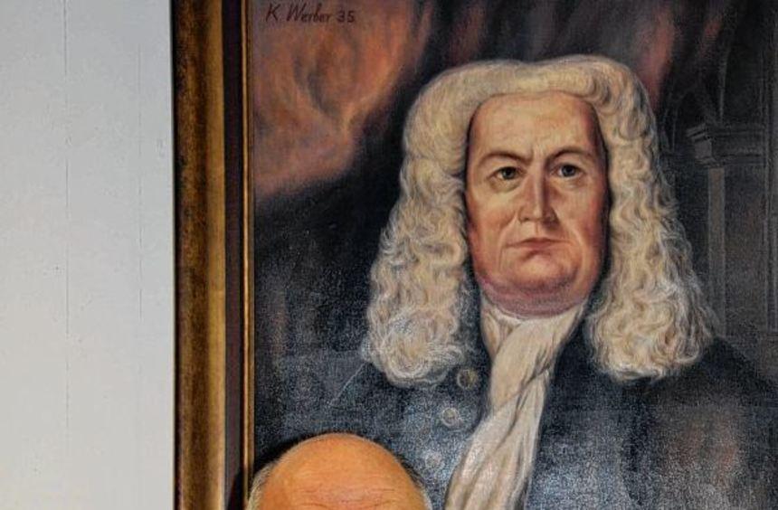 Zwei begeisterte Freunde der Musik: Richard Trares und Altmeister Bach.