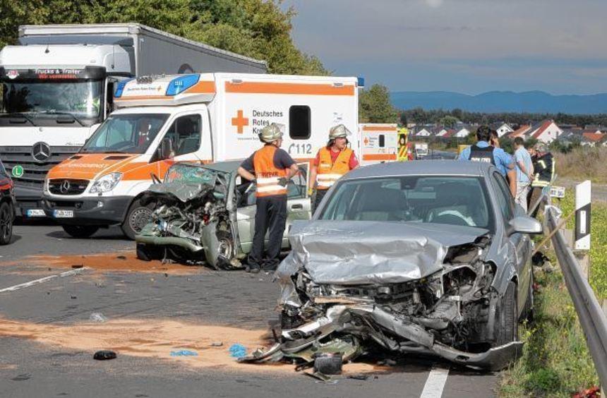 Ein Bild des Schreckens: Ein schwerer Unfall ereignete sich gestern auf der Bundesstraße 47 bei ...