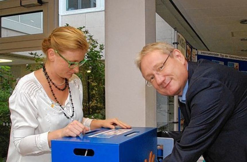 Ging mit gutem Beispiel voran: Dr. Mathias Jähnel, Ärztlicher Direktor und Hygieneverantwortlicher ...