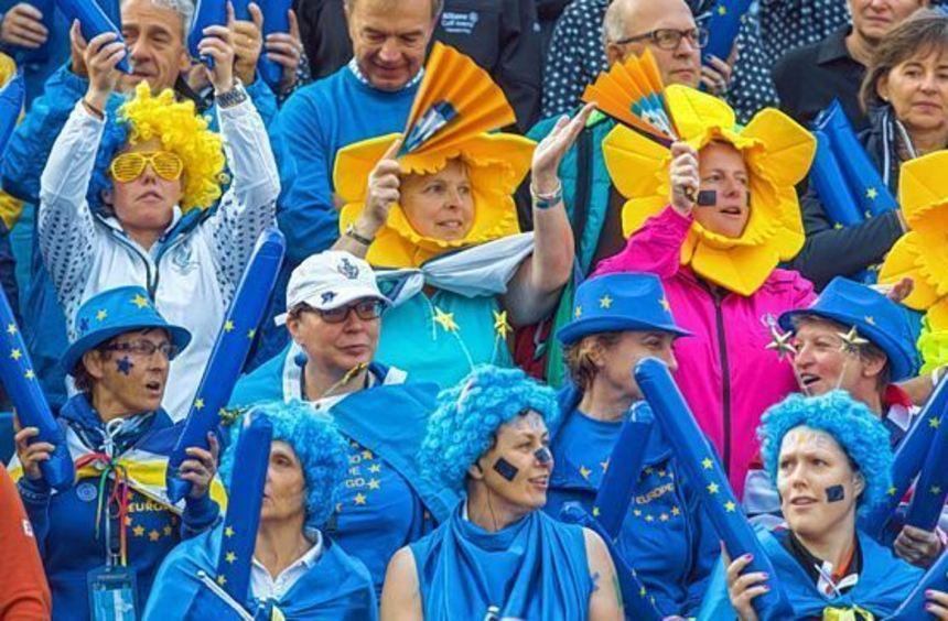 Die Fans für das Team Europa waren beim Solheim Cup in der Überzahl. Sie feuerten die ...