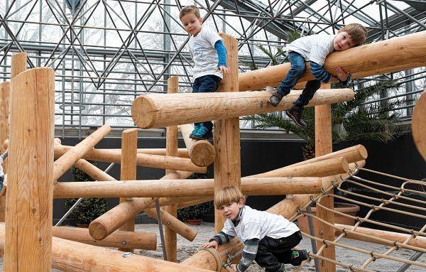 Klettergerüst Aus Baumstämmen : Luisenpark mikado aus lauter baumstämmen mannheimer morgen
