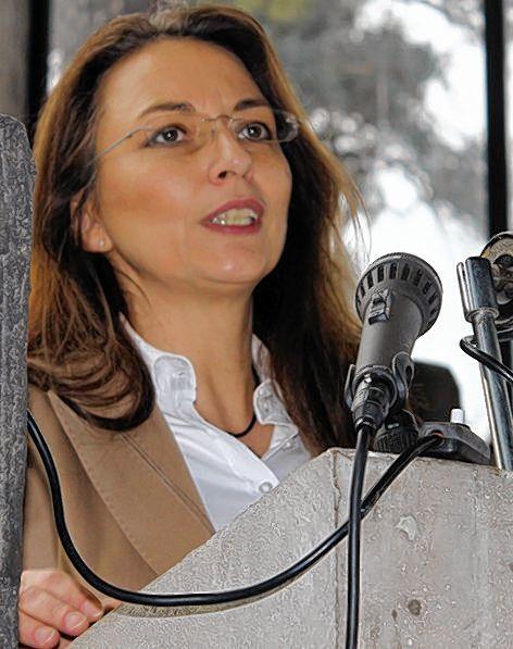 Staatssekretärin Yasmin Fahimi beim Neujahrsempfang. © Tin
