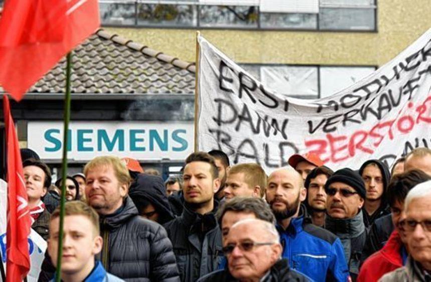 Schon im Herbst 2015 demonstrierten die Siemens-Mitarbeiter in Frankenthal für ihre Jobs. Für heute ...