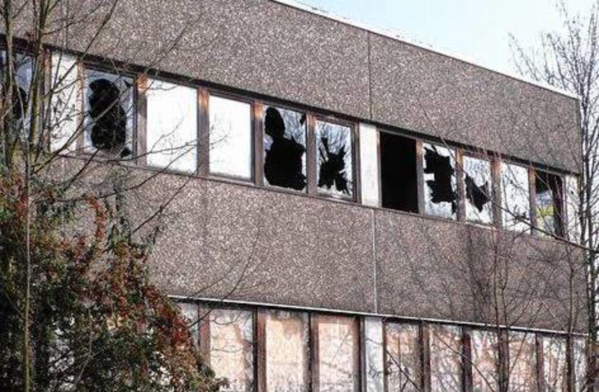 Die Anwohner ärgern sich über das Rhein-Neckar-Hotel und das Nachbargebäude (u.l.). Gitter vor den ...