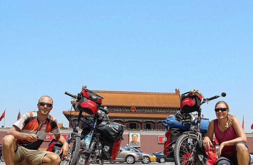 20 000 Kilometer legten Jasmin und Christian Leitner mit dem Fahrrad zurück, ehe sie ihre in ...
