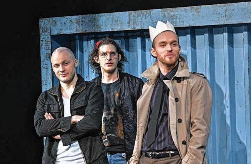 Matthias Thömmes, David Müller, Markus Gläser und Martin Aselmann (von links) im Studio.