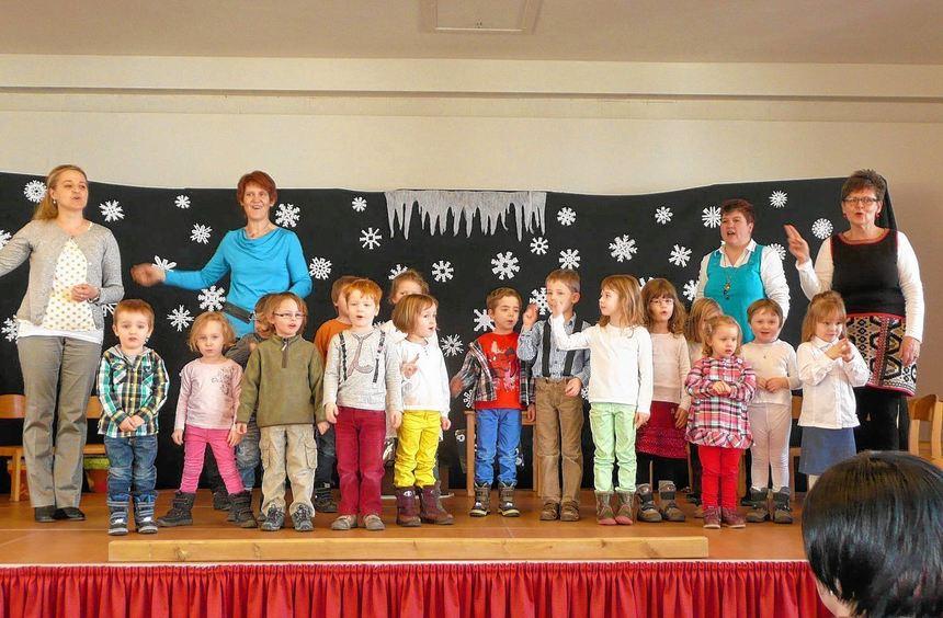 Viel Spaß hatten die Kinder des Kindergartens St. Josef in Berolzheim bei der Aufführung ihres ...