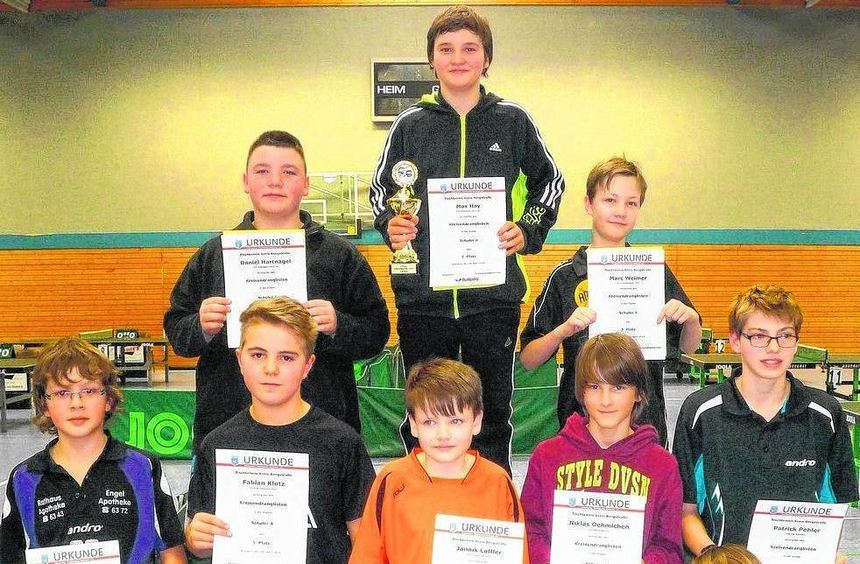 So wie hier bei den A-Schülern gab es bei der Siegerehrung der Tischtennis-Kreisrang-liste für alle ...