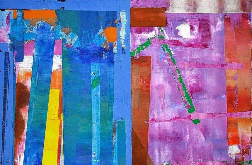 """""""Farben und Formen im Dialog"""" heißt die Ausstellung mit Werken von Andreas Schmidt, die im ..."""