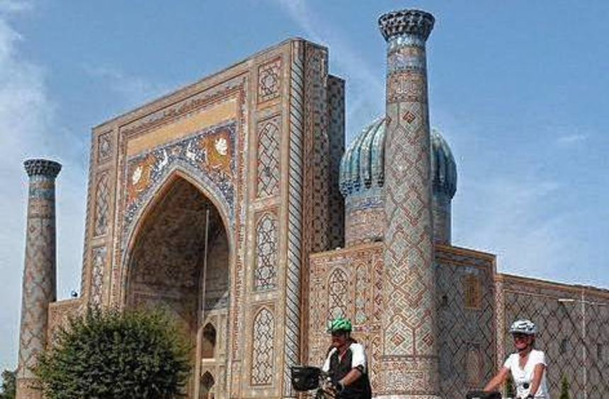 Traumkulisse: Ankunft in Sarmakand in Usbekistan.