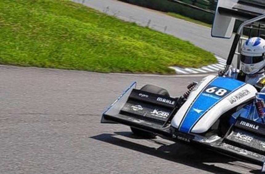 Am Hockenheimring ging das Rennauto der Mannheimer in Disziplinen wie Beschleunigung, ...