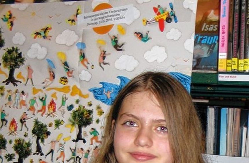 Am Ende hat sie die Jury überzeugt: Siegerin Elisabeth Frikkel (12) aus Sandhausen mit ihrer ...