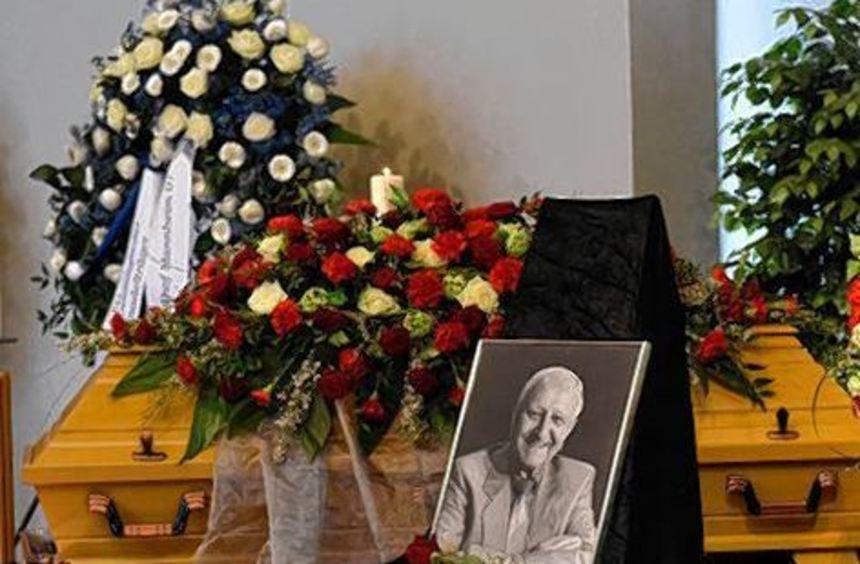 Trauerfeier für Walter Spargerer in der Friedhofskapelle Waldhof.