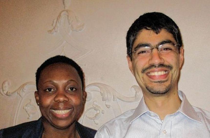 Zwei von über 900 Neu-Mannheimern: Larissa Domkem aus Kamerun und David Vazquez Landa aus Mexiko ...