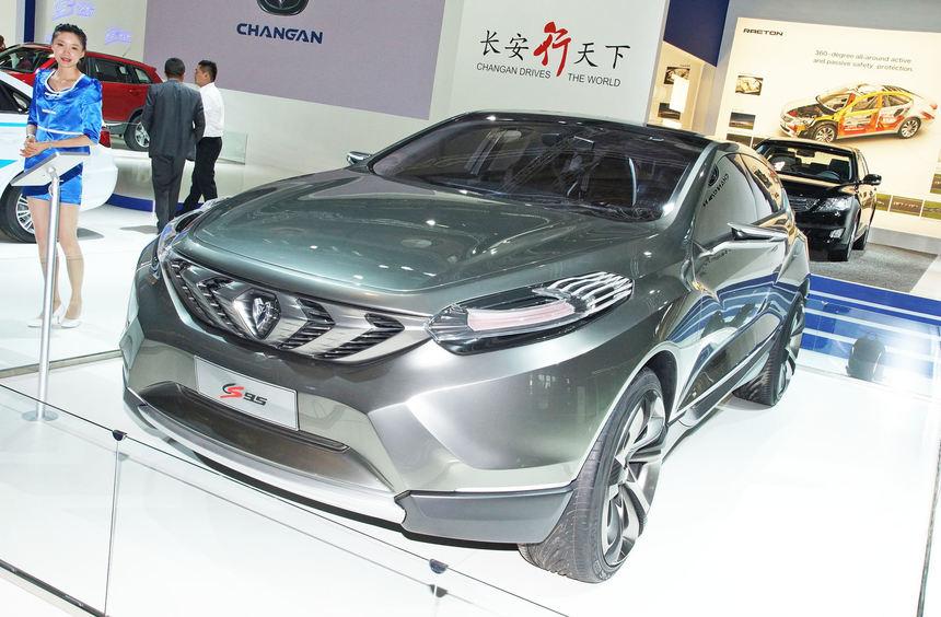 Mit über fünf Metern Länge ist das SUV-Konzept Changan CS95 des Herstellers ein Riese